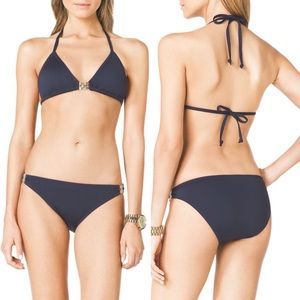 Navy Bikini with hardware by MICHAEL MICHAEL KORS